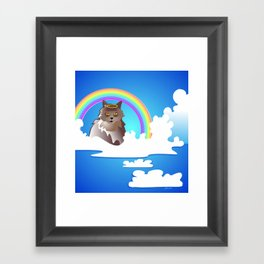 Momma Kitty & Rainbow Bridge Framed Art Print