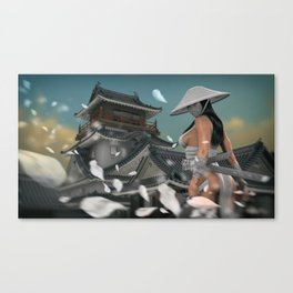 Samurai Movement Canvas Print