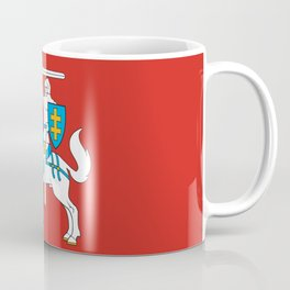 State Flag of Lithuania Knight On Red Coffee Mug