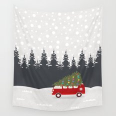 Driving Home for Christmas Wall Tapestry