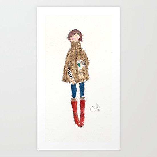 PONCHO - SELF-PORTRAIT Art Print