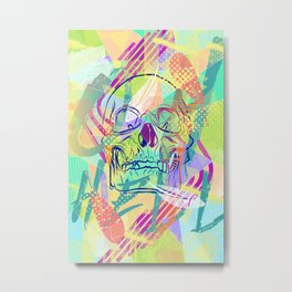 Oh Hell Sherbert Skull Metal Print