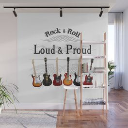 Loud and Proud Guitars Wall Mural