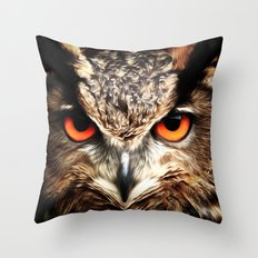 Whoo Are You Looking At? Throw Pillow