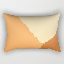Grand Teton Mountains Jackson, Wyoming Orange Rectangular Pillow