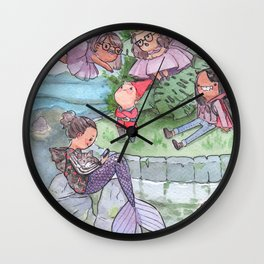 Weird creatures Wall Clock