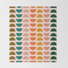 Retro 70s Geometrics Throw Blanket