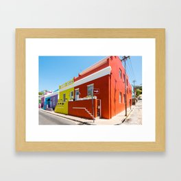 Colorful Bo-Kaap area of Cape Town Framed Art Print