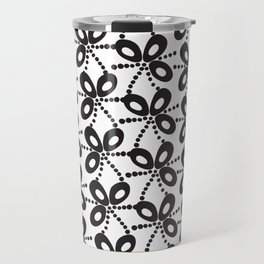 Quirky Black & White Travel Mug