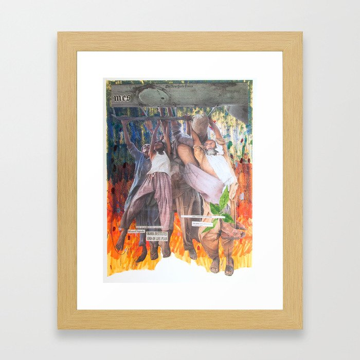 I Don't Know What Happened Framed Art Print