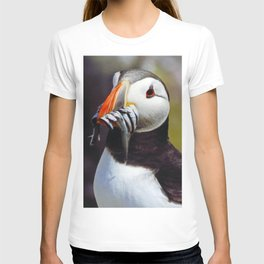 Puffin with Sand Eels T-shirt