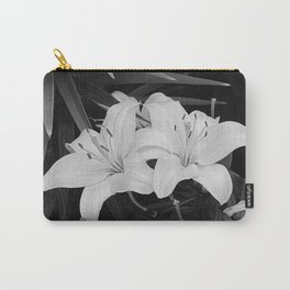 Contemporary Black White Lily Flower Floral Art A116 Carry-All Pouch