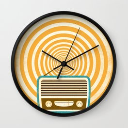 Mixed Signals - Yellow Wall Clock