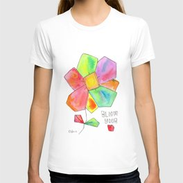 """""""Bloom Your LOVE"""" Original Watercolor Painting by Lenna Arty T-shirt"""