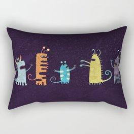 Secretly Vegetarian Monsters Rectangular Pillow