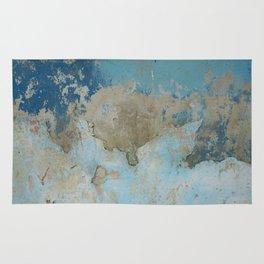 rough blue urban paint wall texture pattern Rug