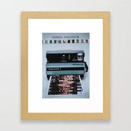 Smile, please Framed Art Print