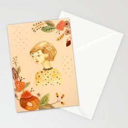 Ladies in Flowers III Stationery Cards