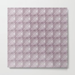 Modern Geometric Pattern 7 in Musk Mauve Metal Print
