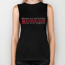 Redhead T-Shirt Redheads Are Never Forgotten Redhead Apparel Biker Tank