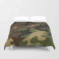 camo Duvet Covers featuring Camo by gypsykissphotography