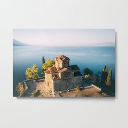 Sveti Jovan's Church overlooking Lake Ohrid Metal Print