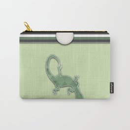 Green Lizard Stripes Animal Design Pattern Carry-All Pouch