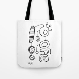 Orbs N Lines - Feather Flower Chime Tote Bag