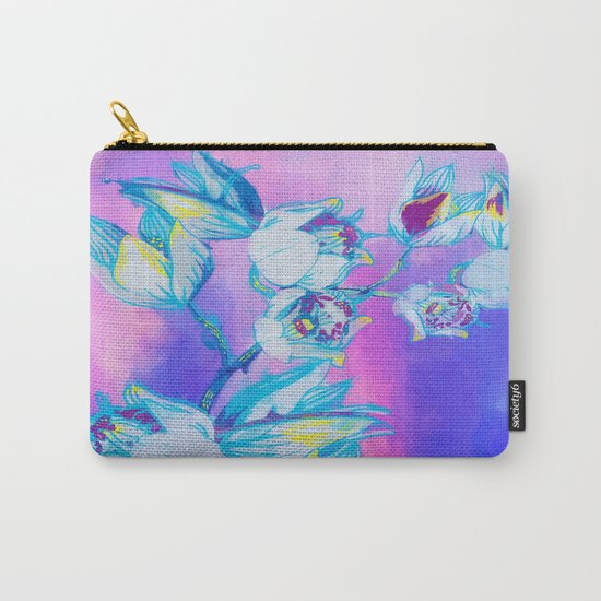 Blue flower abstract Carry-All Pouch