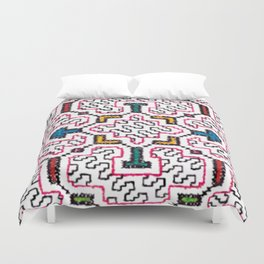 Physical Healing Icaro - Traditional Shipibo Art - Indigenous Ayahuasca Patterns Duvet Cover