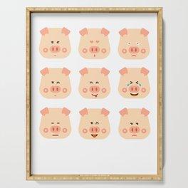Year of the Pig Chinese New Year 2019 Zodiac Shirt Dark Light Serving Tray