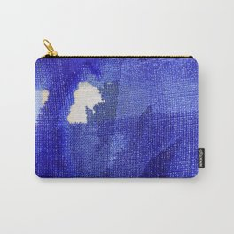 Blue abstract linen Carry-All Pouch