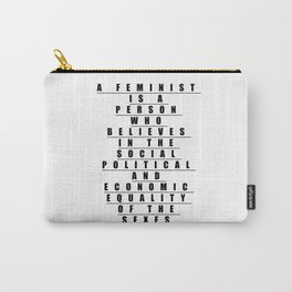 Feminist by Definition Carry-All Pouch