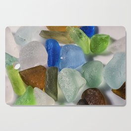 Colorful New England Beach Glass Cutting Board