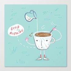 Coffee Buzz Canvas Print