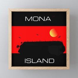 Mona Island Framed Mini Art Print