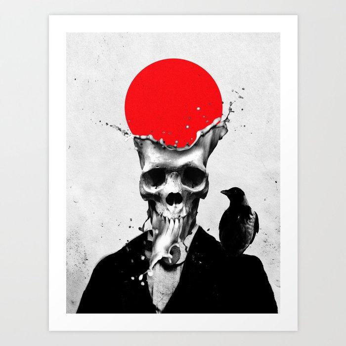SPLASH SKULL Art Print