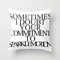 donnie darko Throw Pillows featuring Donnie Darko by lastminutebinge