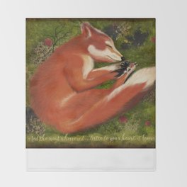 Sleeping Fox, Listen to your Heart Throw Blanket