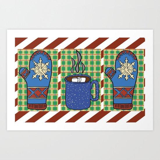 Cozy Christmas! Art Print