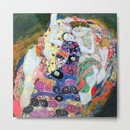 Gustav Klimt - The Maiden - The Virgin - Die Jungfrau - Vienna Secession Painting Metal Print