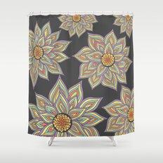 Floral Rhythm In The Dark Shower Curtain
