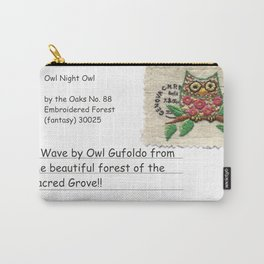 owl stamp Carry-All Pouch