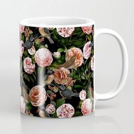 Vintage & Shabby Chic - Blush Camellia & Kingfishers Coffee Mug