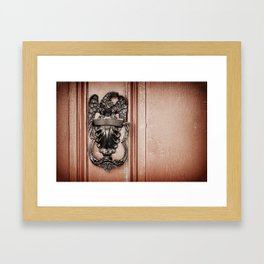 Eagle Door Knocker Framed Art Print