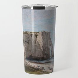 The Etretat Cliffs after the Storm - Gustave Courbet Travel Mug