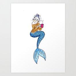 Cranky Mermaid Art Print