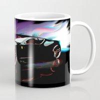 ferrari Mugs featuring New Ferrari by JT Digital Art