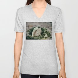 Seaweed and Shells on the Beach Nature / Coastal Photograph Unisex V-Neck