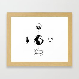 Anthropology: The Four Subdisciplines (Version 2.0) Framed Art Print